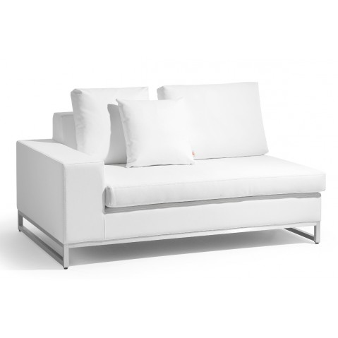 Canapé ZENDO de Manutti à 1 accoudoir à droite blanc