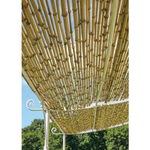 Pergola SOLAIRE Adossée Courbée De Unopiuu0027, L.376 X P.220, Couverture En  Cannes De Bambou