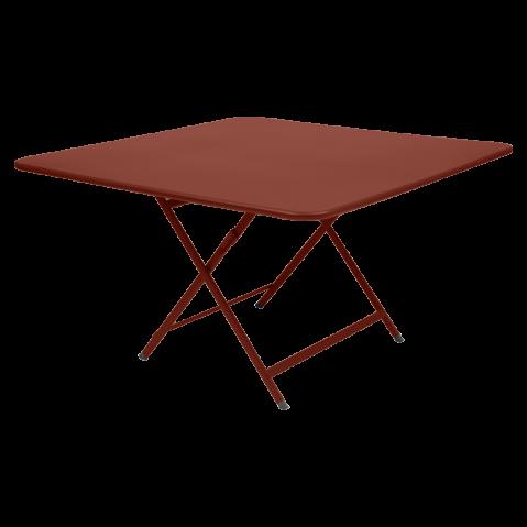 Table CARACTÈRE de Fermob, ocre rouge