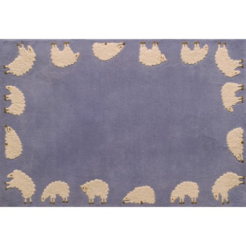 Tapis CABRIOLE de Toulemonde Bochart, 110 x 170, Bleu