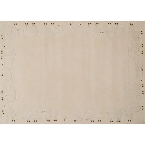 Tapis CABRIOLE de Toulemonde Bochart, 110 x 170, Ecru