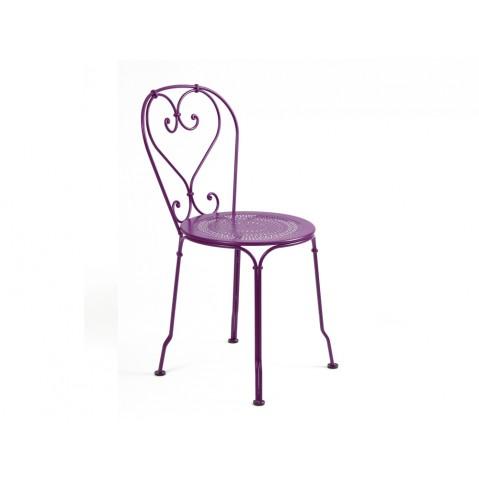 Chaise 1900 de Fermob aubergine