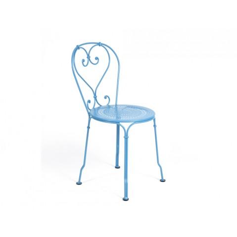 Chaise 1900 de Fermob bleu turquoise