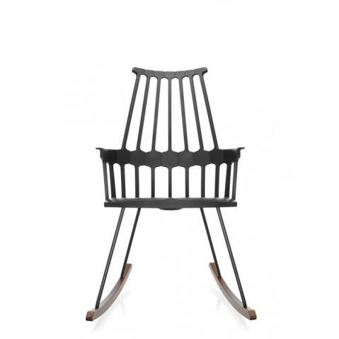Chaise à bascule COMBACK de Kartell, Noir-chêne