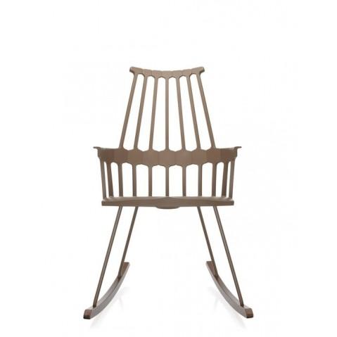 Chaise à bascule COMBACK de Kartell, Noisette-chêne