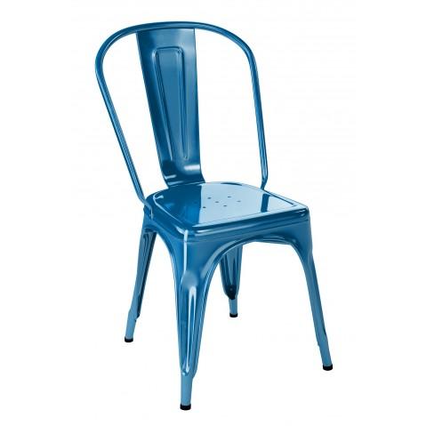 Chaise A de Tolix acier laqué, 11 coloris