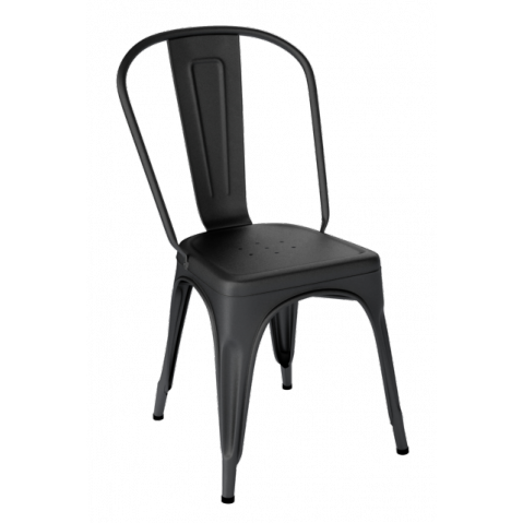 Chaise A De Tolix Acier Mat Textur Noir