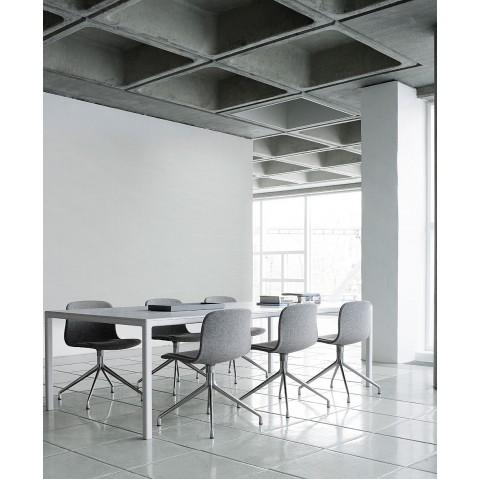 chaise aac10 de hay pi tement en aluminium teint blanc cream white. Black Bedroom Furniture Sets. Home Design Ideas