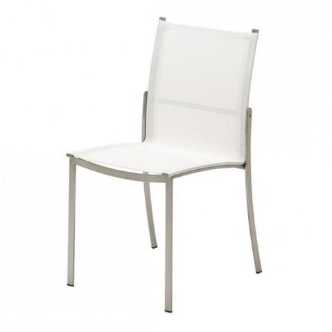 Chaise acier FUSION de Gloster, Blanc