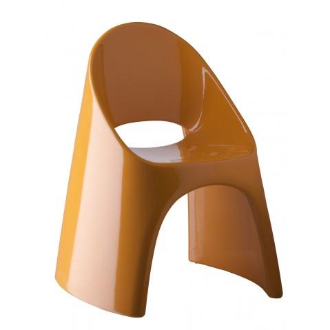 Chaise AMELIE de Slide orange laqué
