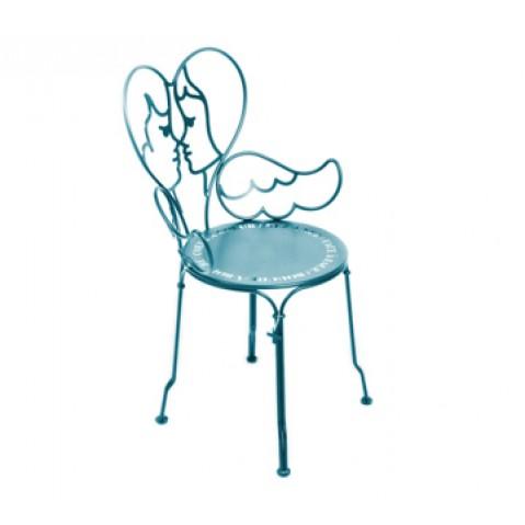 Chaise ANGE de Fermob bleu turquoise