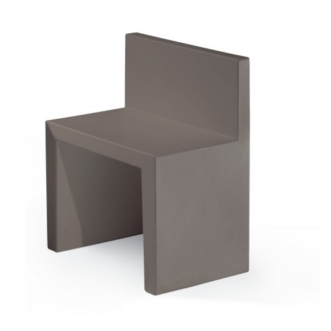 Chaise ANGOLO RETTO de Slide gris