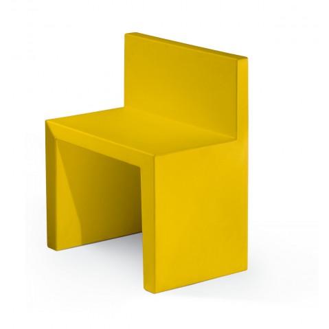 Chaise ANGOLO RETTO de Slide jaune