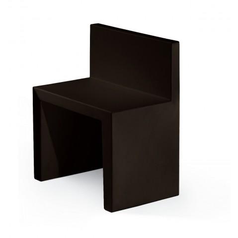Chaise ANGOLO RETTO de Slide noir