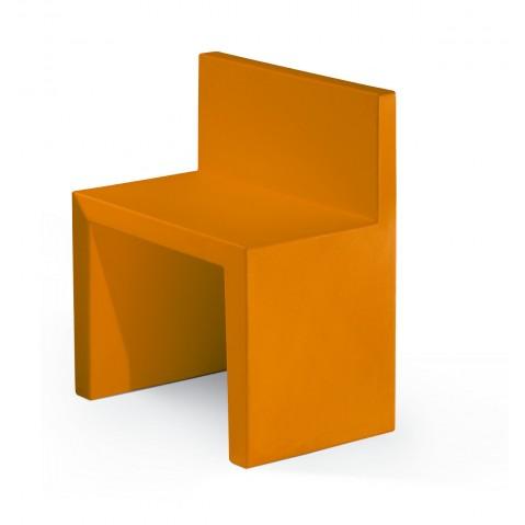 Chaise ANGOLO RETTO de Slide orange