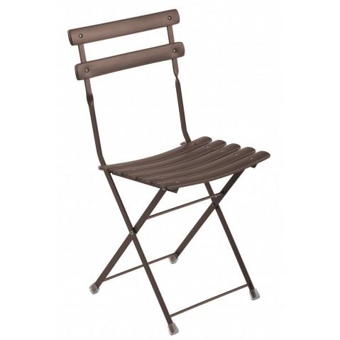 Chaise ARC EN CIEL de Emu marron d'inde