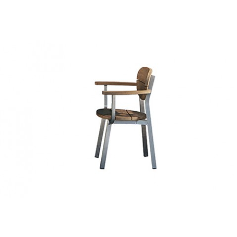 Chaise avec accoudoirs INOUT 124 de Gervasoni