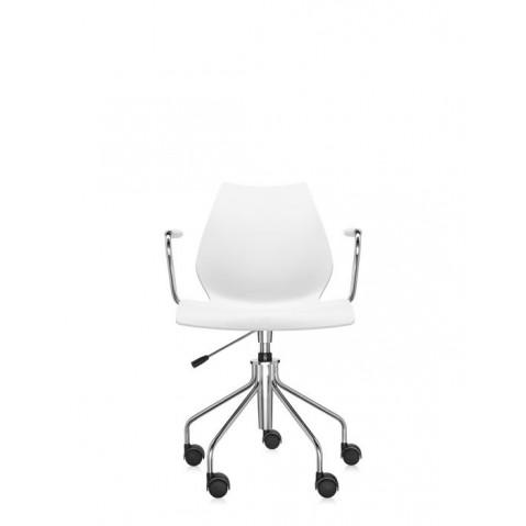 Chaise avec accoudoirs MAUI de Kartell, Blanc