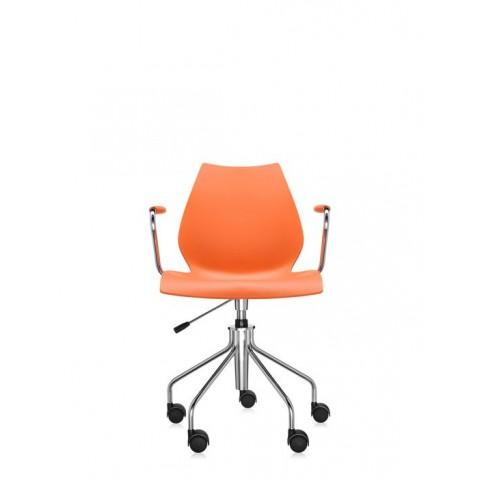 Chaise avec accoudoirs MAUI de Kartell, Orange