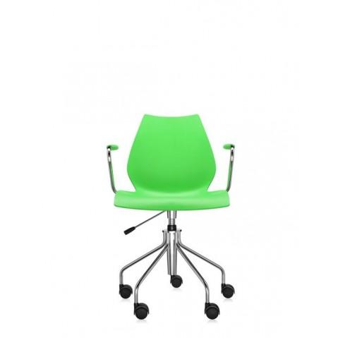 Chaise avec accoudoirs MAUI de Kartell, Vert
