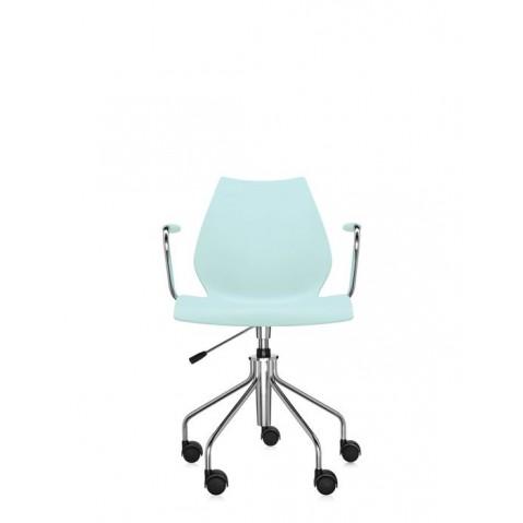Chaise avec accoudoirs MAUI de Kartell, Vert clair