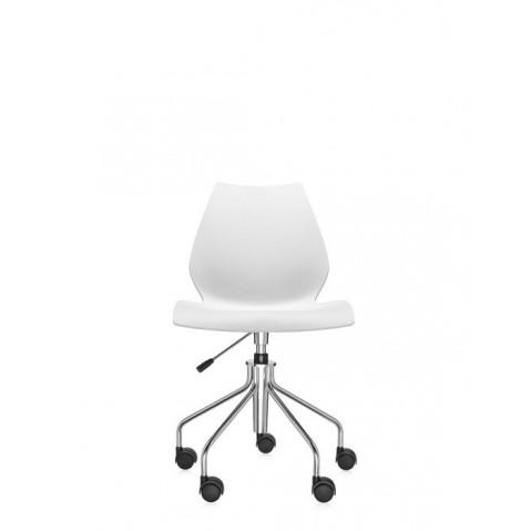 Chaise avec roulettes MAUI de Kartell, Blanc