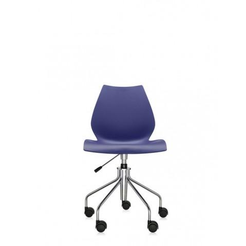 Chaise avec roulettes MAUI de Kartell, Bleu marine
