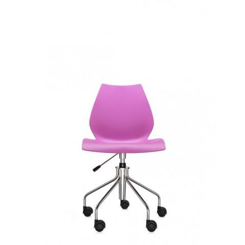 Chaise avec roulettes MAUI de Kartell, Fuchsia