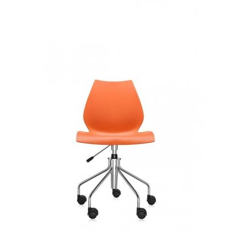 Chaise avec roulettes MAUI de Kartell, Orange