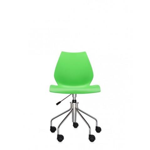 Chaise avec roulettes MAUI de Kartell, Vert