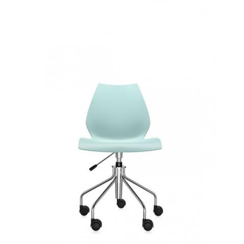 Chaise avec roulettes MAUI de Kartell, Vert clair