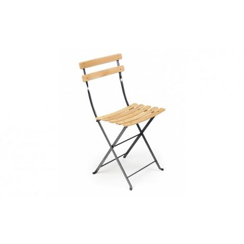 Chaise BISTRO NATUREL bois de Fermob, Carbone