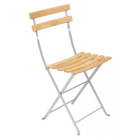 Chaise BISTRO NATUREL bois de Fermob, Gris Métal