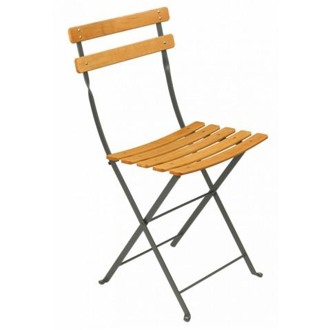Chaise BISTRO NATUREL bois de Fermob, gris orage
