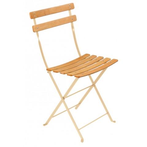 Chaise BISTRO NATUREL bois de Fermob, lin