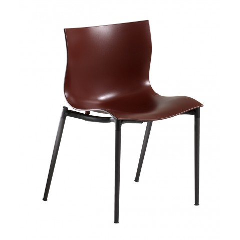 Chaise CAM EL EON de Driade rouge