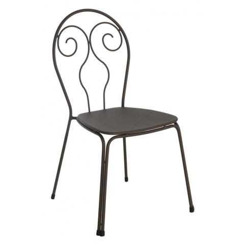 Chaise CAPRERA de Emu, marron d'Inde