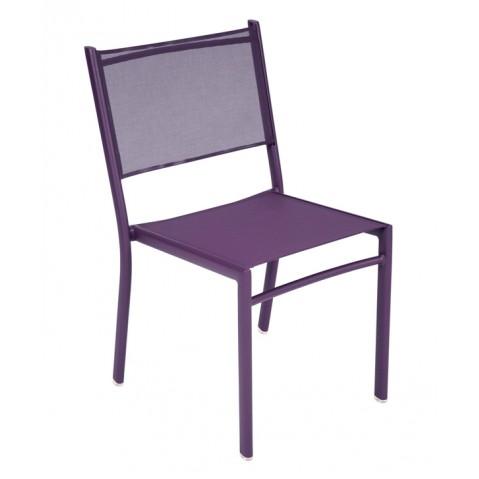 Chaise COSTA de Fermob aubergine