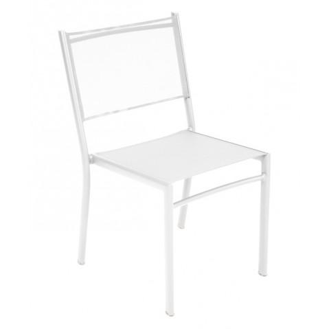 Chaise COSTA de Fermob blanc coton