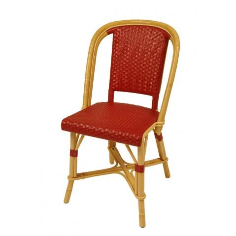 Chaise Drucker bordeaux