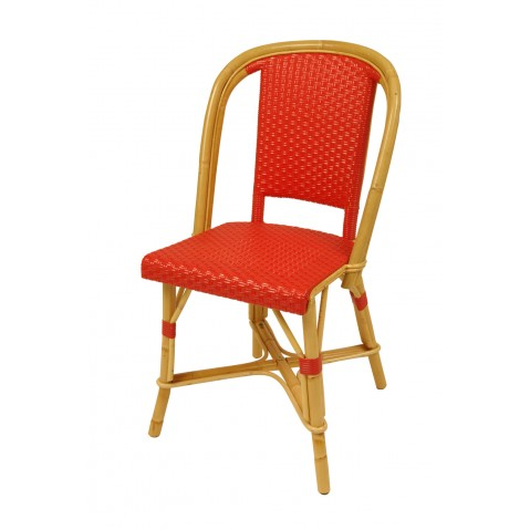 Chaise Drucker rouge