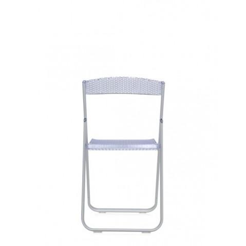 Chaise HONEY COMB de Kartell, Bleu transparent