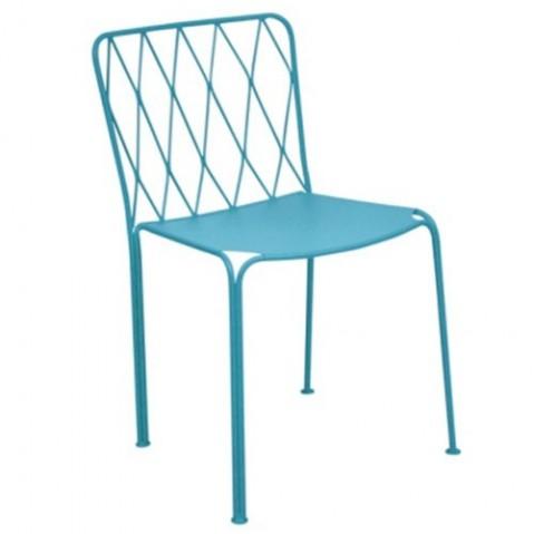 chaise kintbury de fermob bleu turquoise. Black Bedroom Furniture Sets. Home Design Ideas