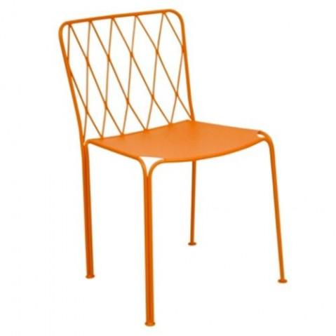 Chaise KINTBURY de Fermob, Carotte