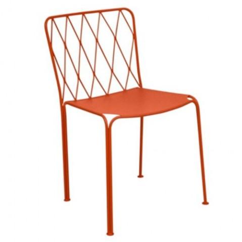 Chaise KINTBURY de Fermob, Coquelicot