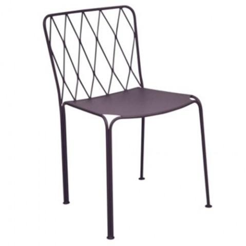 Chaise KINTBURY de Fermob, Prune
