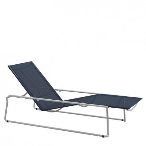 Chaise longue ASTA de Gloster, White/Sapphire