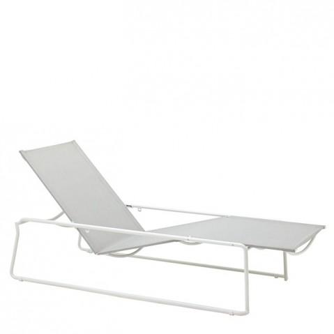 Chaise longue ASTA de Gloster, White/Seagull