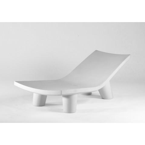 Chaise longue LOW LITA LOUNGE de Slide blanc