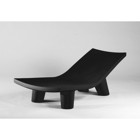 Chaise longue LOW LITA LOUNGE de Slide noir